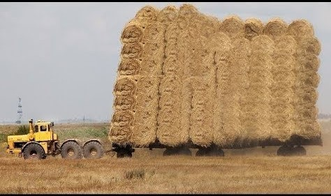 World Amazing Modern Agriculture Equipment and Mega Machines: Hay Bale Handling Tractor, Loader!