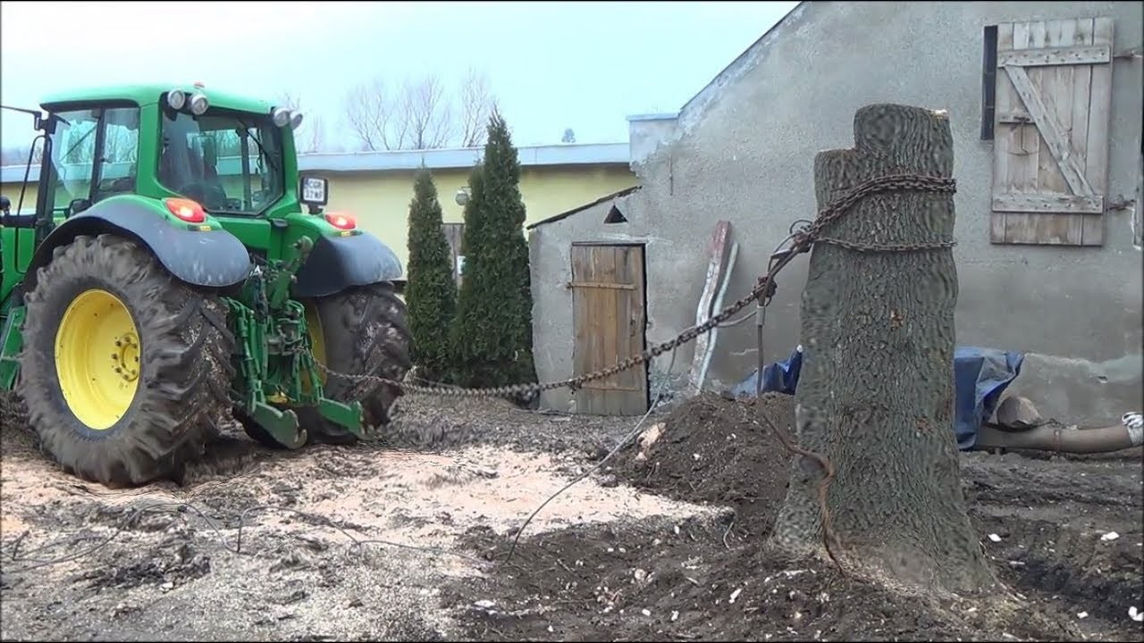 Tractor vs Tree Roots - Tractor & Power mode