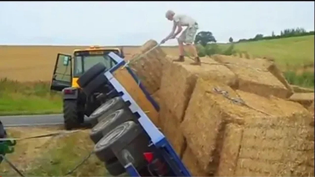 World Amazing Modern Agriculture Equipment and Mega Machines_ Hay Bale Handling Tractor Truck Fail