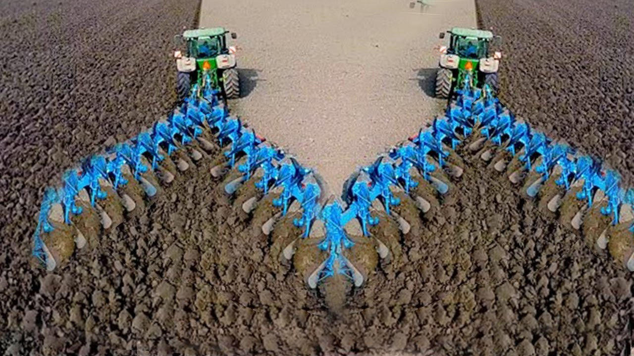 World Amazing Modern Agriculture Equipment Tractor Harvester Mega Machines Plow Hay Bale Handling